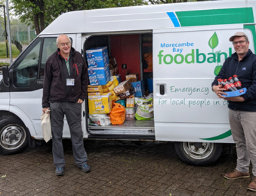 Windermere Lake Cruises donates shop stock to Morecambe Bay Foodbank
